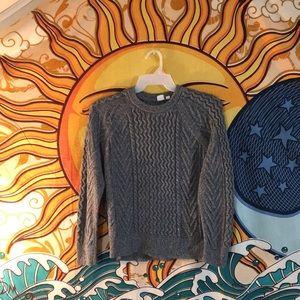 Gap cotton blend cable knit. Grey size XL